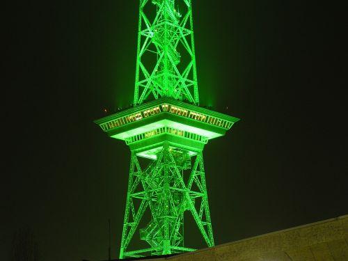 radio tower berlin night