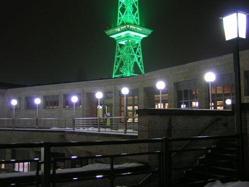 radio tower berlin lighting