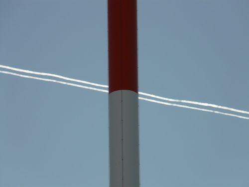radio tower radio mast greened