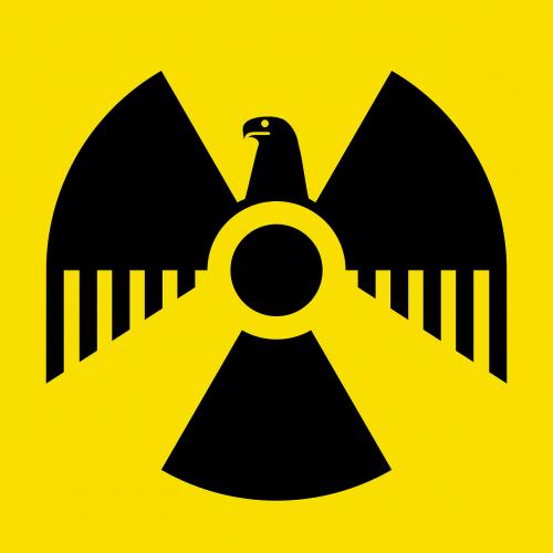 radioactive symbol german