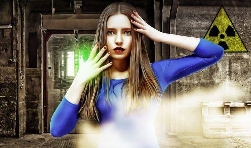radioactive leak woman female