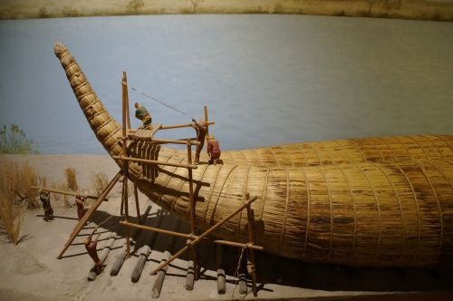 raft,raft building,workers,culture,ancient culture,egypt,boot,boat building,replica,museum