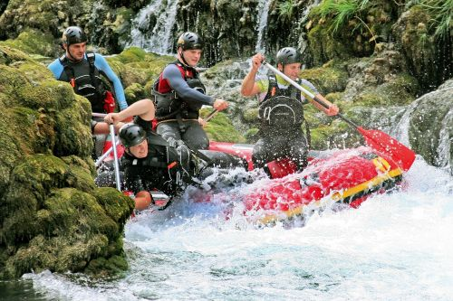 rafting una river bosnia