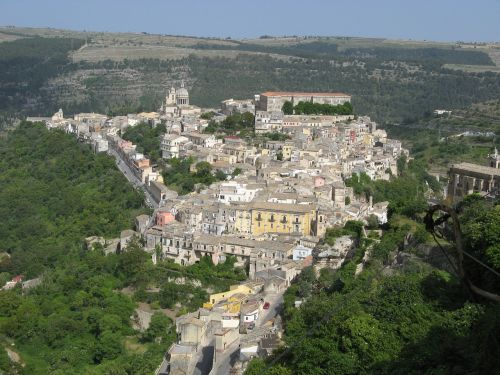 ragusa landscape old town