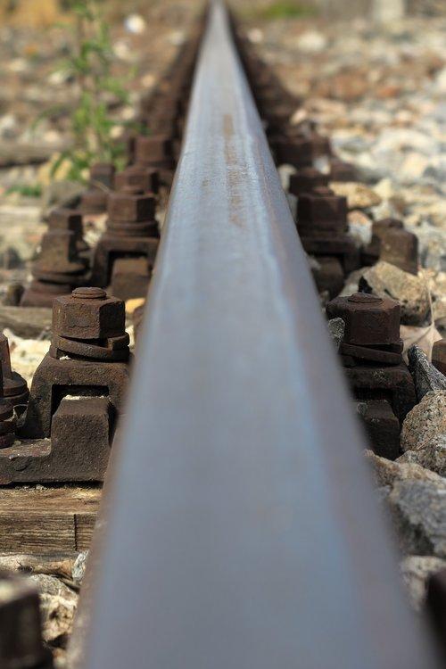 rail  railway  railroad tracks
