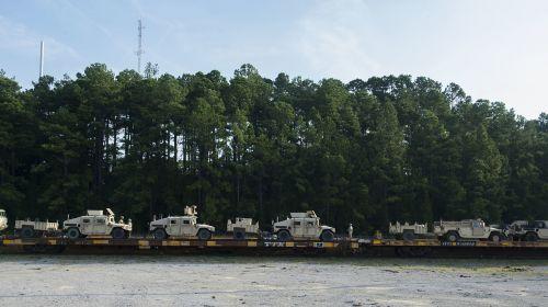 rail operations loaded humvees