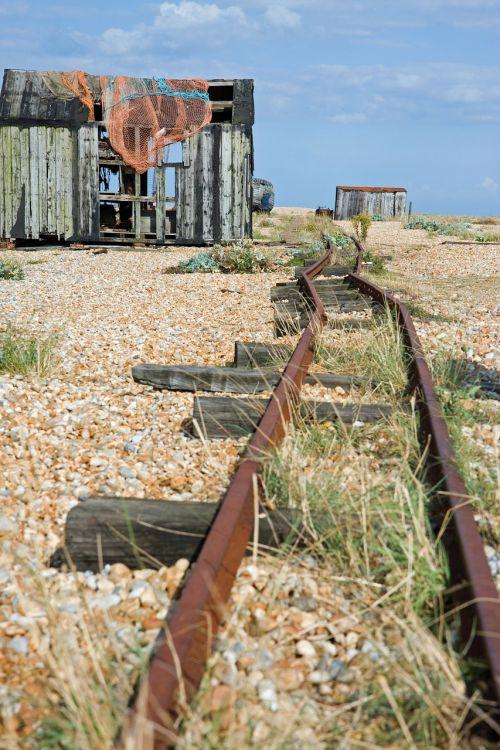 rail tracks old disused