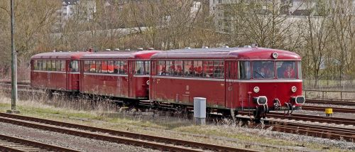railbus deutsche bundesbahn in three parts