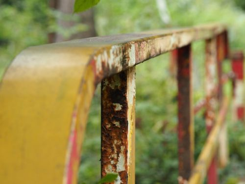 railing stainless rusty