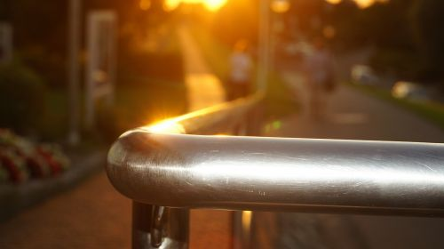 railing evening sun gloss