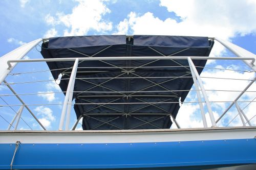railing and roof of cruise vessel railing white