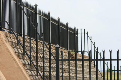 Railing And Steep Wall
