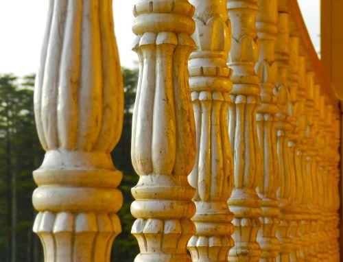railings wood abstract