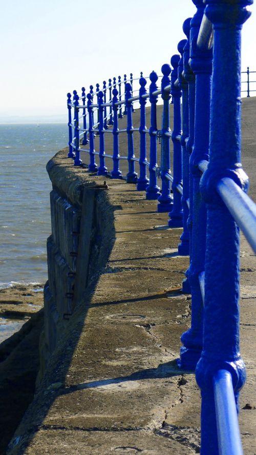 railings blue architecture