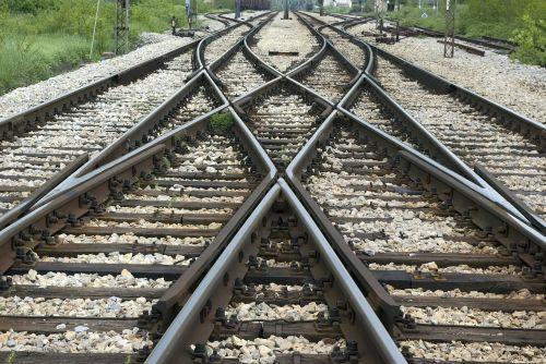 railroad crossroads track
