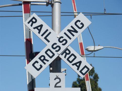 railroad crossing railroad crossing sign sign