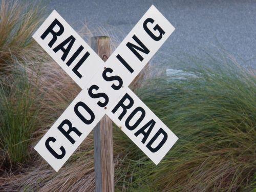 railroad crossing sign railway crossing