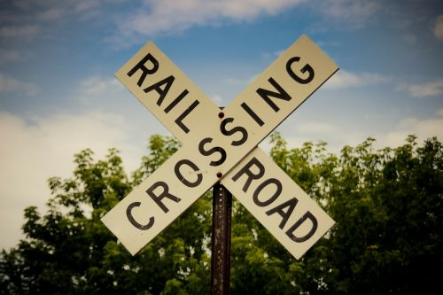 railroad crossing sign old