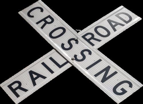 railroad crossing sign warning