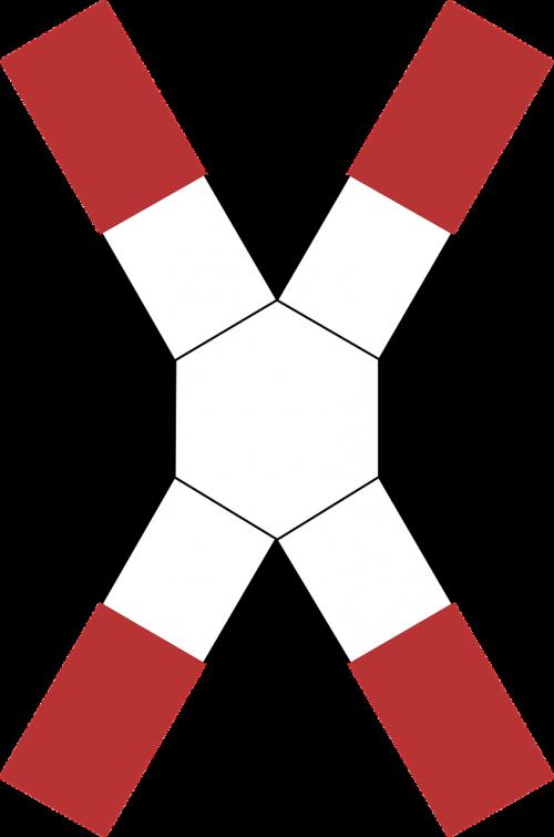 railroad crossing caution sign