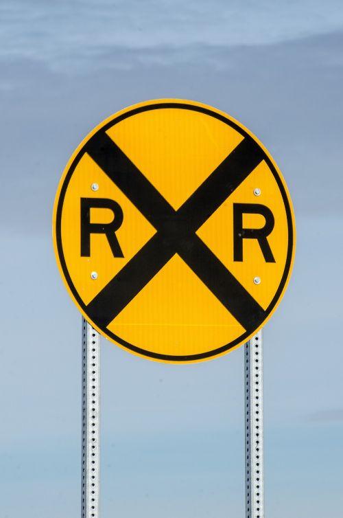 railroad crossing sign sign railroad