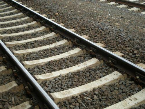 railroad track seemed railway