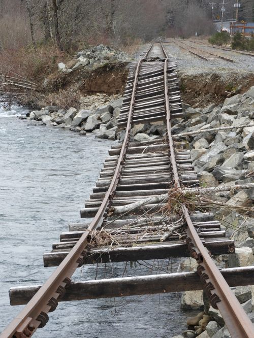 railroad track railway track