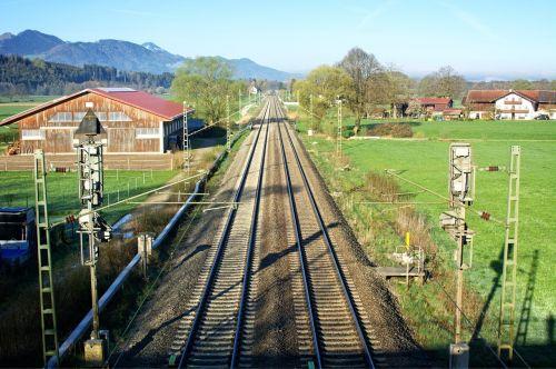 railroad tracks seemed train