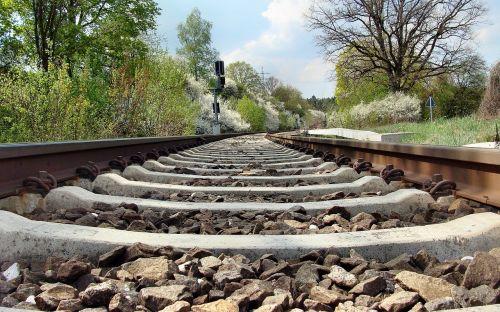 railroad tracks spring brenz railway