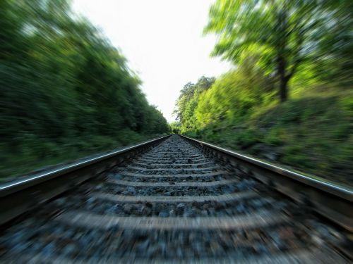 rails railway railroad tracks