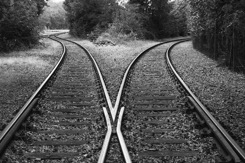 rails  train  railroad tracks