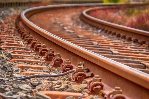 rails  railroad tracks  track