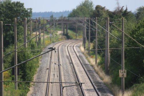 rails  upper lines  railway