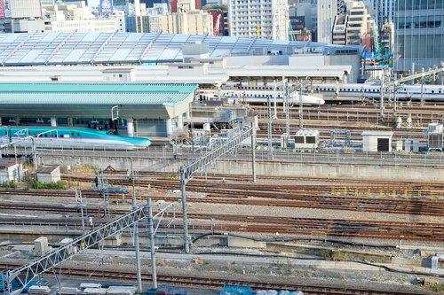 rails  station  trains