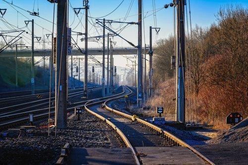 rails  track  railroad tracks