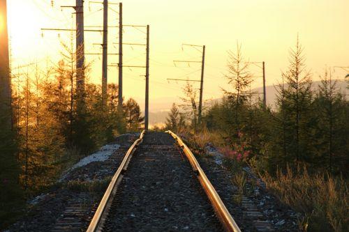railway sunrise road