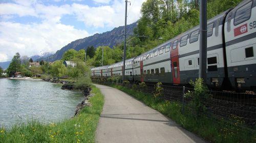 railway train away