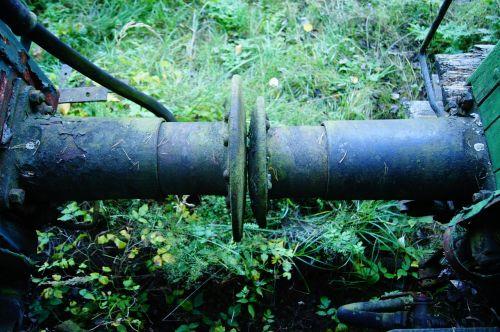 railway rusted buffer