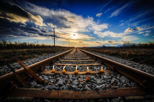 railway landscape candles
