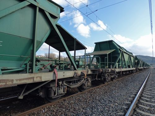 railway comboy goods cargo train
