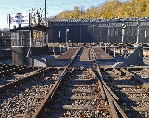 railway hub locomotive shed