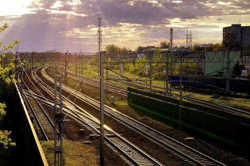 railway iron rails