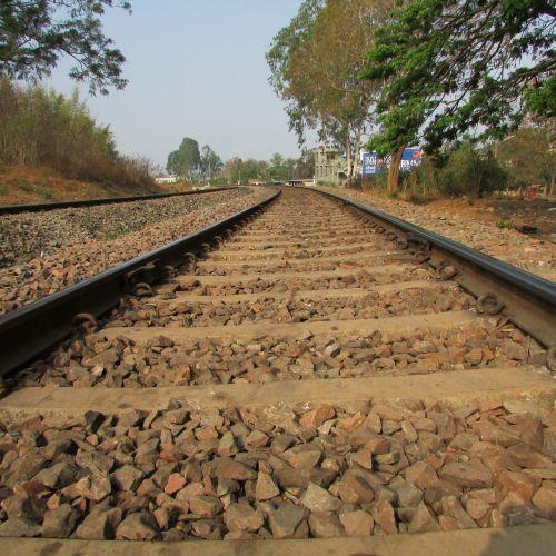 railway track railroad