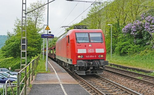 railway  freight train  main line