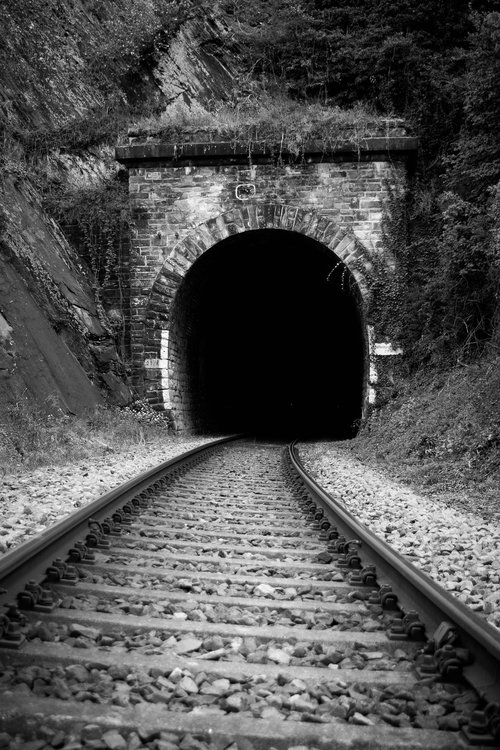 railway  train  tunnel
