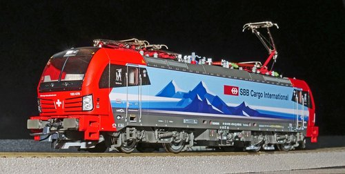 railway  model train  electric locomotive