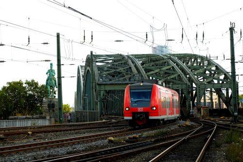 railway bridge cologne hohenzollern bridge