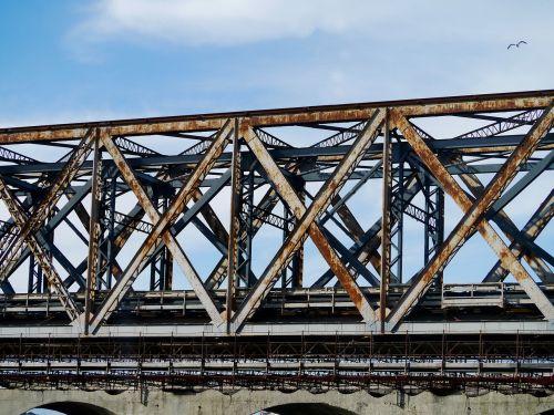 railway bridge steel iron