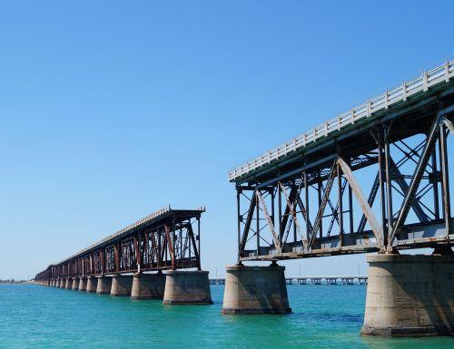 railway bridge old broken