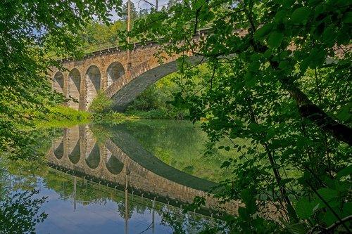 railway bridge  stone bridge  bridge